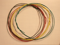 Wire assortment, 3 feet each of 5 colors