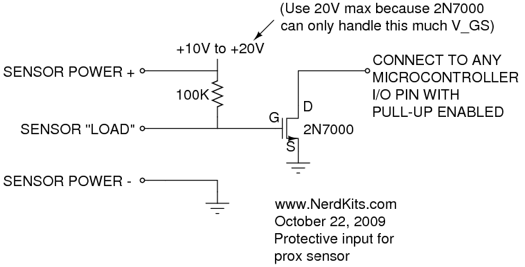 prox sensor connection sketch