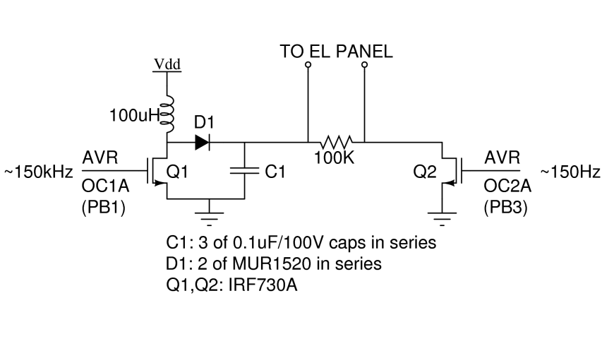 backlight boost converter schematic