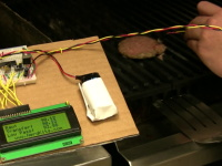 Meat Thermometer with Predictive Filter