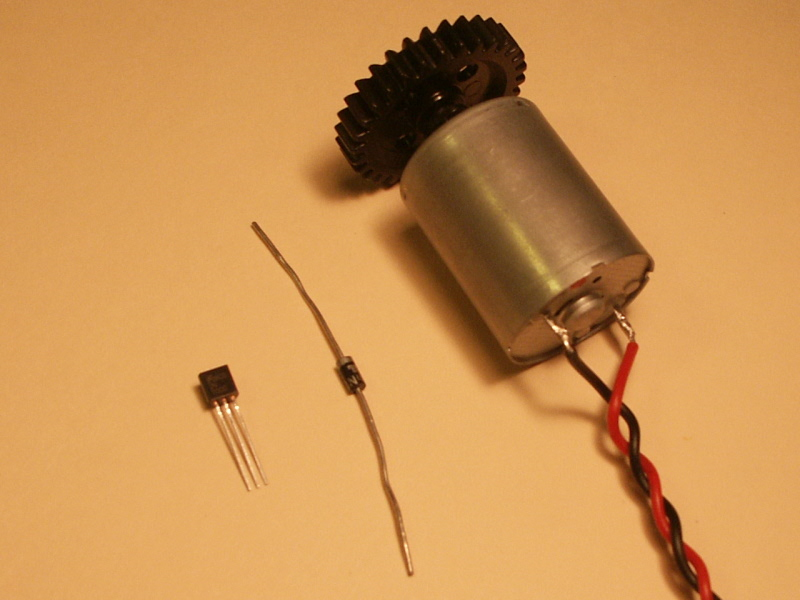 nerdkits motors and microcontrollers 101 2n7000 n channel mosfet 1n4003 diode and brushed dc motor